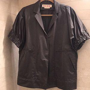 MARNI Satin Short Sleeve Jacket - EUC